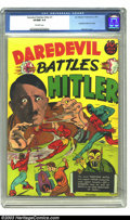 Golden Age (1938-1955):Superhero, Daredevil Comics #1 (Lev Gleason, 1941) CGC VF/NM 9.0 Off-whitepages. Holy cow! Any collector with an interest in Golden Ag...