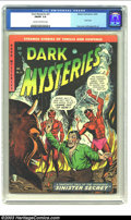 Golden Age (1938-1955):Horror, Dark Mysteries #21 (Master Publications, 1954) CGC FN/VF 7.0 Creamto off-white pages. The series was nearing the end of its...