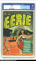 Golden Age (1938-1955):Horror, Eerie #4 (Avon, 1951) CGC VF 8.0 Cream to off-white pages. WallyWood offers up another eye-catching cover for this issue, t...