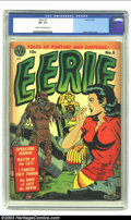 Golden Age (1938-1955):Horror, Eerie #5 (Avon, 1952) CGC FN- 5.5 Cream to off-white pages. CGC'smid-grade means you can own this Wally Wood cover issue fo...