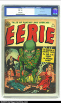 Golden Age (1938-1955):Horror, Eerie #8 (Avon, 1952) CGC FN+ 6.5 Off-white pages. Thisdouble-bondage cover by Harry Lazarus has been seen on only twoothe...