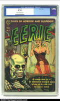 "Golden Age (1938-1955):Horror, Eerie #1 (Avon, 1951) CGC VG 4.0 Cream to off-white pages. Thisissue reprints a story from the ""other"" #1 issue of this tit..."