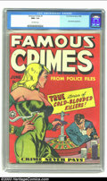 Golden Age (1938-1955):Crime, Famous Crimes #1 (Fox Features Syndicate, 1948) CGC NM+ 9.6 Off-white pages. Where did this copy come from?! High-grade ...