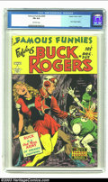 Golden Age (1938-1955):Science Fiction, Famous Funnies #209 (Eastern Color, 1953) CGC FN 6.0 Off-whitepages. Frank Frazetta's Buck Rogers covers for Famous Funni...