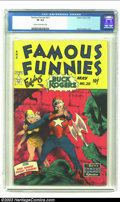 Golden Age (1938-1955):Science Fiction, Famous Funnies #211 (Eastern Color, 1954) CGC VF 8.0 Cream tooff-white pages. Frank Frazetta's unique style is captured her...