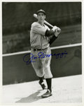 "Autographs:Photos, Joe DiMaggio Signed Photograph. Black and white photo measuring8""x10"" has dark blue sharpie signature added by the ""Yankee ..."