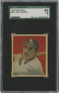 Baseball Cards:Singles (1940-1949), 1949 Bowman Yogi Berra #60 SGC NM 84. High-grade Hall of Fameoffering seen here comes from the hobby favorite 1949 Bowman ...