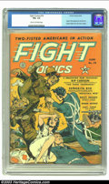 Golden Age (1938-1955):War, Fight Comics #19 (Fiction House, 1942) CGC FN+ 6.5 Cream tooff-white pages. One of Fiction House's flagship war-years title...