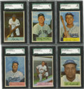 Baseball Cards:Sets, 1954 Bowman Baseball Complete Set (224). A total of 6 cards have been graded by SGC with an aggregate SMR value of $820. Co...