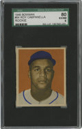Baseball Cards:Singles (1940-1949), 1949 Bowman Roy Campanella #84 SGC EX-NM 80. Important rookieoffering featuring the phenomenal backstop Roy Campanella, a ...