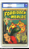 "Golden Age (1938-1955):Science Fiction, Forbidden Worlds #2 (ACG, 1951) CGC VF- 7.5 Cream to off-whitepages. This issue rates a Gerber ""scarce"" and is the only iss..."