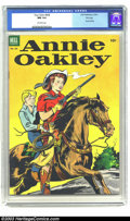 Golden Age (1938-1955):Western, Four Color #438 Annie Oakley File Copy (Dell, 1952) CGC NM 9.4 Off-white pages. The first Annie Oakley issue, featuring a ni...