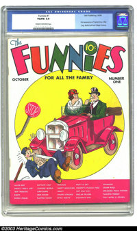 Funnies #1 (Dell, 1936) VG/FN 5.0 Cream to off-white pages. This is reputed to be the first comic book appearance of All...