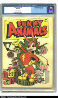 Golden Age (1938-1955):Cartoon Character, Funny Animals #2 Mile High pedigree (Fawcett, 1943) CGC NM 9.4Off-white to white pages. Hoppy the Captain Marvel Bunny star...