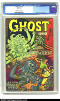 Golden Age (1938-1955):Horror, Ghost Comics #5 (Fiction House, 1952) CGC NM- 9.2 Cream tooff-white pages. When the horror genre came to the forefront ofc...