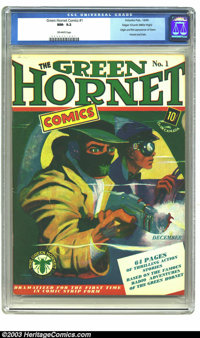 Green Hornet Comics #1 Mile High pedigree (Harvey, 1940) CGC NM- 9.2 Off-white pages. We have a projection based on earl...