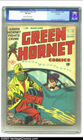 Golden Age (1938-1955):Crime, Green Hornet Comics #33 File Copy (Harvey, 1947) CGC VF 8.0 Cream to off-white pages. This issue seems to be more scarce tha...