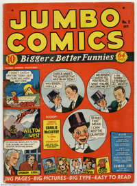 Jumbo Comics #2 (Fiction House, 1938) Condition: VG. The early large-sized Jumbo Comics fall into the category of books...