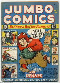 Jumbo Comics #3 (Fiction House, 1938) Condition: GD/VG. Before he shook up the comic world with his groundbreaking Batma...