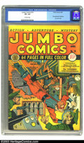 Golden Age (1938-1955):Adventure, Jumbo Comics #14 (Fiction House, 1940) CGC VF+ 8.5 Off-white pages. Legendary artist Will Eisner does the cover here, introd...
