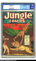Golden Age (1938-1955):Adventure, Jungle Comics #12 Rockford pedigree (Fiction House, 1940) CGC NM- 9.2 Cream to off-white pages. Dan Zolnerowich's second cov...
