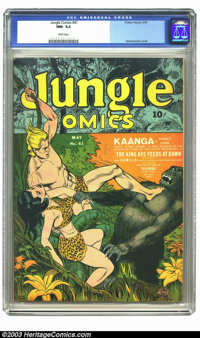 Jungle Comics #41 (Fiction House, 1943) CGC NM- 9.2 White pages. Dan Zolnerowich was famous for his cover work on Fictio...