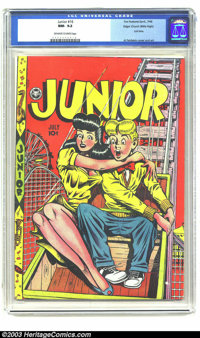 Junior #16 Mile High pedigree (Fox Features Syndicate, 1948) CGC NM- 9.2 Off-white to white pages. The last three issues...