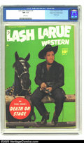 Golden Age (1938-1955):Western, Lash Larue Western #4 Mile High pedigree (Fawcett, 1950) CGC NM-9.2 White pages. The King of the Bullwhip got his own title...