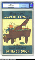 Golden Age (1938-1955):Funny Animal, March of Comics #41 Donald Duck (K. K. Publications, Inc., 1949)CGC VF 8.0 Off-white to white pages. This book contains a c...