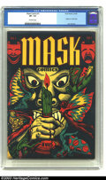 Golden Age (1938-1955):Horror, Mask Comics #1 (Rural Home, 1945) CGC VF- 7.5 Off-white pages. Thedistinctive flair of a Golden Age legend, artist L. B. Co...