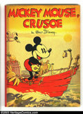 Platinum Age (1897-1937):Miscellaneous, Mickey Mouse, Crusoe Paperback Storybook (Whitman, 1936) Condition:VF Cream pages. Early Mickey Mouse books like this are i...