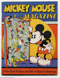 Mickey Mouse Magazine V1#1 (K. K. Publications, Inc., 1935) Condition: FN. The title that eventually became the decades-...