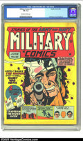 Golden Age (1938-1955):War, Military Comics #10 (Quality, 1942) CGC FN- 5.5 Off-white to whitepages. Quality put a premium on consistently skillful art...