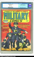 Golden Age (1938-1955):War, Military Comics #13 Mile High pedigree (Quality, 1942) CGC NM 9.4Off-white to white pages. EC great, Reed Crandall, demonst...