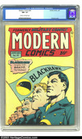 Golden Age (1938-1955):War, Modern Comics #45 (Quality, 1946) CGC NM- 9.2 Cream to off-whitepages. Al Bryant keeps it simple with this cover, but no le...