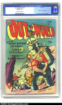 Out of This World #1 (Avon, 1950) CGC FN/VF 7.0 Cream to off-white pages. Gene Fawcette did some nice pre-Code sci-fi an...