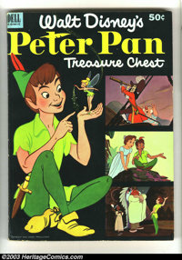 Peter Pan Treasure Chest #1 (Dell, 1952) Condition: VF/NM. This incredible squarebound giant contains a full 54 page ada...