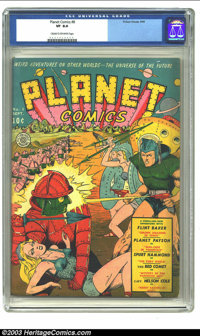 Planet Comics #8 (Fiction House, 1940) CGC VF 8.0 Cream to off-white pages. According to Gerber's The Photo-Journal Guid...