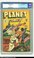 Golden Age (1938-1955):Science Fiction, Planet Comics #60 (Fiction House, 1949) CGC VF- 7.5 Off-whitepages. Fiction House's groundbreaking title features the usual...