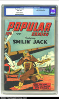 Golden Age (1938-1955):Cartoon Character, Popular Comics #82 Mile High pedigree (Dell, 1942) CGC NM+ 9.6 Off-white to white pages. By late 1942, the title had taken o...