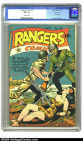Golden Age (1938-1955):War, Rangers Comics #19 Pennsylvania pedigree (Fiction House, 1944) CGC NM+ 9.6 Off-white pages. The horrors of the Bataan death ...
