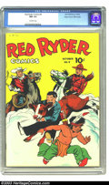Golden Age (1938-1955):Western, Red Ryder Comics #9 Mile High pedigree (Dell, 1942) CGC NM 9.4 Off-white pages. This comic book featured not only the famous...
