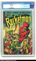 Golden Age (1938-1955):Science Fiction, Rocketman #1 (Farrell, 1952) CGC VF+ 8.5 Off-white pages. Blinkonce, and you might miss this title altogether, since it is ...