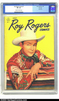 Golden Age (1938-1955):Western, Roy Rogers Comics #1 File Copy (Dell, 1948) CGC VF+ 8.5 Cream to off-white pages. After starring in more than a dozen issues...