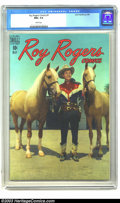 Golden Age (1938-1955):Western, Roy Rogers Comics #5 (Dell, 1948) CGC NM+ 9.6 White pages. Roy andTrigger are stylin' fore and aft in the photo covers of t...