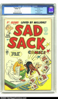 Golden Age (1938-1955):Cartoon Character, Sad Sack Comics #1 File Copy (Harvey, 1949) CGC VF/NM 9.0 Cream to off-white pages. Here is the premiere issue of Harvey's l...
