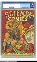 Golden Age (1938-1955):Science Fiction, Science Comics #4 (Fox, 1940) CGC FN- 5.5 Cream to off-white pages.Simon and Kirby each contribute to this issue, but it's ...