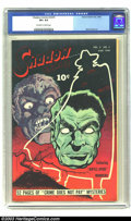 Golden Age (1938-1955):Crime, Shadow Comics V8 #5 (Street & Smith, 1948) CGC VF+ 8.5 Off-white to white pages. The striking Jekyll/Hyde cover is from the ...