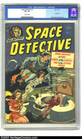 Golden Age (1938-1955):Science Fiction, Space Detective #1 (Avon, 1951) CGC VF+ 8.5 Off-white pages. Everthe fantastic artist, only Wally Wood could render two bor...