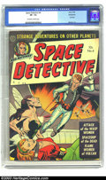 Golden Age (1938-1955):Science Fiction, Space Detective #4 Bethlehem pedigree (Avon, 1952) CGC VF- 7.5 Off-white to white pages. With covers like this, it is surpri...